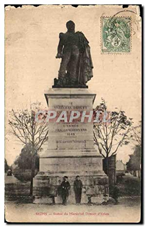 Carte Postale Ancienne Reims Statue du Marechal Drouet d'Erion