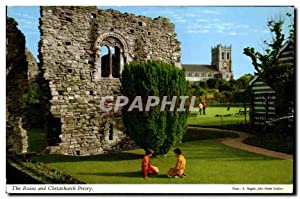 Carte Postale Ancienne The Ruins and Christchurch