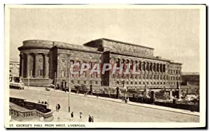 Carte Postale Ancienne George's Hall From west Liverpool