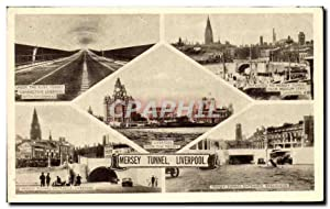 Carte Postale Ancienne Mersey Tunnel Liverpool