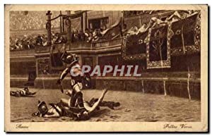 Carte Postale Ancienne Arene gladiateurs Roma