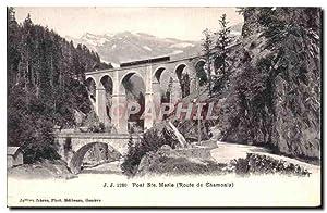 Carte Postale Ancienne Pont Sfe marie Route