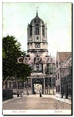 Carte Postale Ancienne Tom Tower Oxford