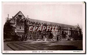 Carte Postale Ancienne Oxford St Johns College