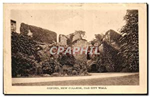 Carte Postale Ancienne Oxford New College Old City Wall