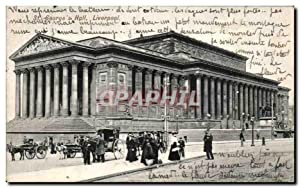 Carte Postale Ancienne St George's Hall Liverpool