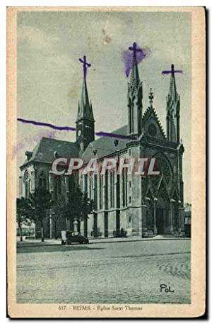 Carte Postale Ancienne Reims Eglise Saint Thomas