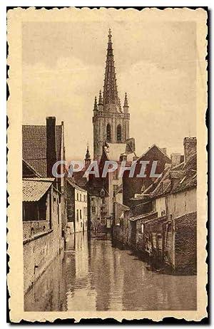 Carte Postale Ancienne Louvain vue Sur la