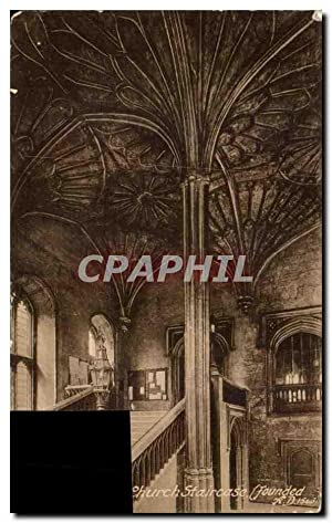 Carte Postale Ancienne Church Staircase Oxford