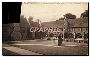Carte Postale Ancienne Canterbury St Augustine's College