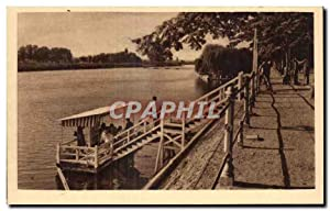Carte Postale Ancienne Vichy Les Bords De l'Allier