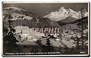 Carte Postale Ancienne Filzmoos Post Eben im