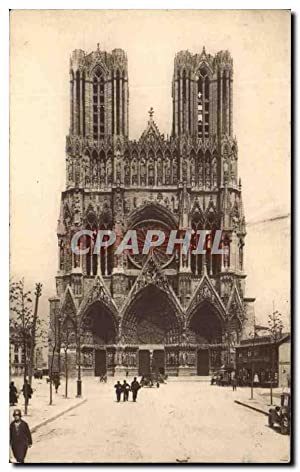 Carte Postale Ancienne Reims La Cathédrale Place du Parvis