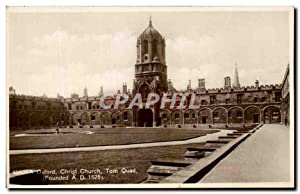 Carte Postale Ancienne Oxford Christ Church Tom Quad