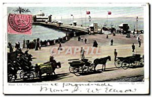 Carte Postale Ancienne West End Pier Morecambe