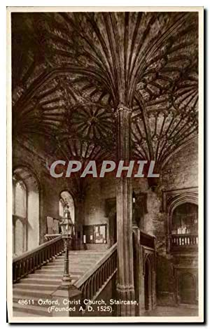 Carte Postale Ancienne Oxford Christ Church Staircase