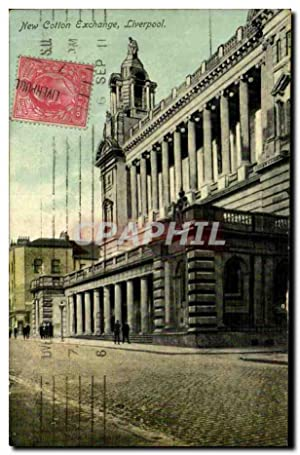 Carte Postale Ancienne New Cotton Exchange Liverpool