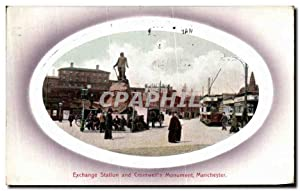 Carte Postale Ancienne Exchange Station and Cromwell's Monument Manchester