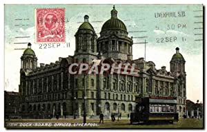 Carte Postale Ancienne Dock Board Offices Liverpool