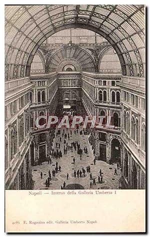 Carte Postale Ancienne Napoli Interno della Galleria