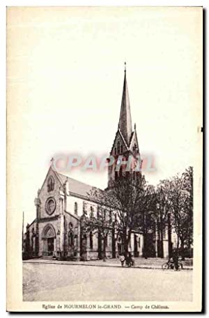 Carte Postale Ancienne Mourmelon Le Grand Eglise de Camp de Chalons