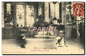 Carte Postale Ancienne Vittel Source Salee Au Pavillon