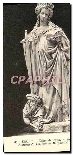 Carte Postale Ancienne Bourg Eglise de Brou