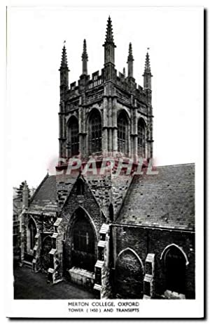 Carte Postale Ancienne Oxford Merion College Tower and transepts