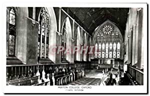 Carte Postale Ancienne Merton College Oxford Chapel interior