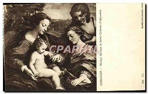 Carte Postale Ancienne Coreggio Mariage Mystique de