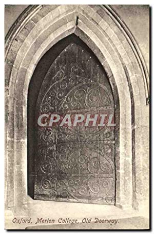 Carte Postale Ancienne Oxford Merion College Old Doorway