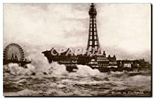 Carte Postale Ancienne Storm at Blackpool