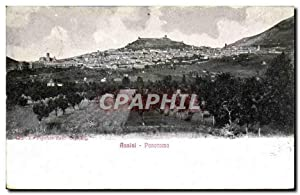 Carte Postale Ancienne Assisi Panorama