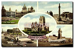 Carte Postale Ancienne Liverpool Cathedral Liverpool