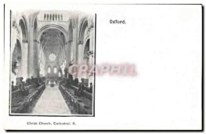 Carte Postale Ancienne Oxford Christ Church Cathedral