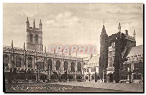 Carte Postale Ancienne Oxford Magdalen College Quad