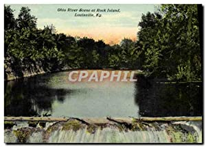 Carte Postale Ancienne Ohio River Scene at Rock Island Louisville