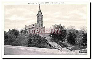 Carte Postale Ancienne St Mary's Church Port Washington