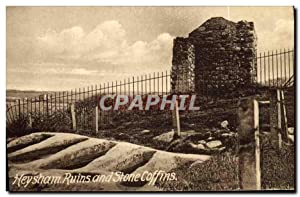 Carte Postale Ancienne Heysham Ruins And Stone Coffins