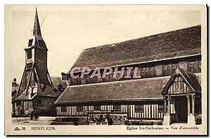 Carte Postale Ancienne Honfleur L'Eglise Sainte Catherine