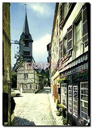 Carte Postale Moderne Honfleur Le Clocher Eglise