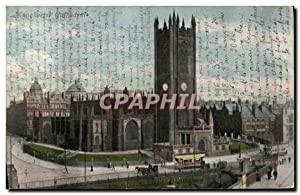 Carte Postale Ancienne Manchester Cathedral