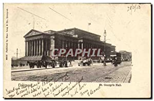 Carte Postale Ancienne Liverpool St George's Hall