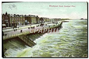Carte Postale Ancienne Blackpool from Cenral Pier