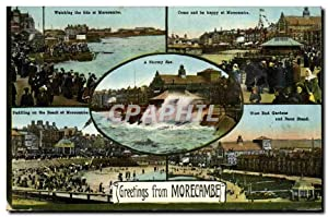 Carte Postale Ancienne Greetings from Morecambe
