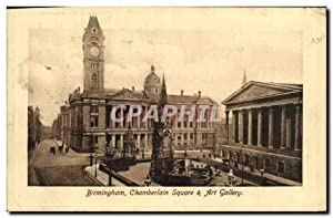 Carte Postale Ancienne Birmingham Chamberlain Square Art Gallery
