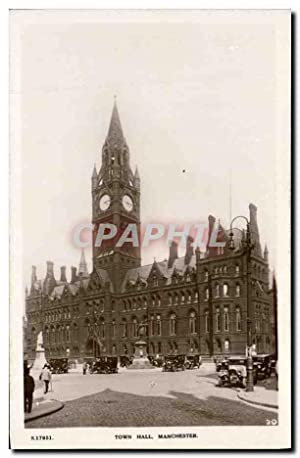 Carte Postale Ancienne Town Hall Manchester
