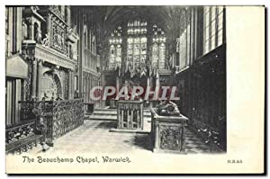 Carte Postale Ancienne The Beauchamp Chapel Warwick