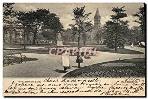 Carte Postale Ancienne Whitworth Park Manchester