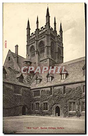 Carte Postale Ancienne Mob Quand Merton College Oxford